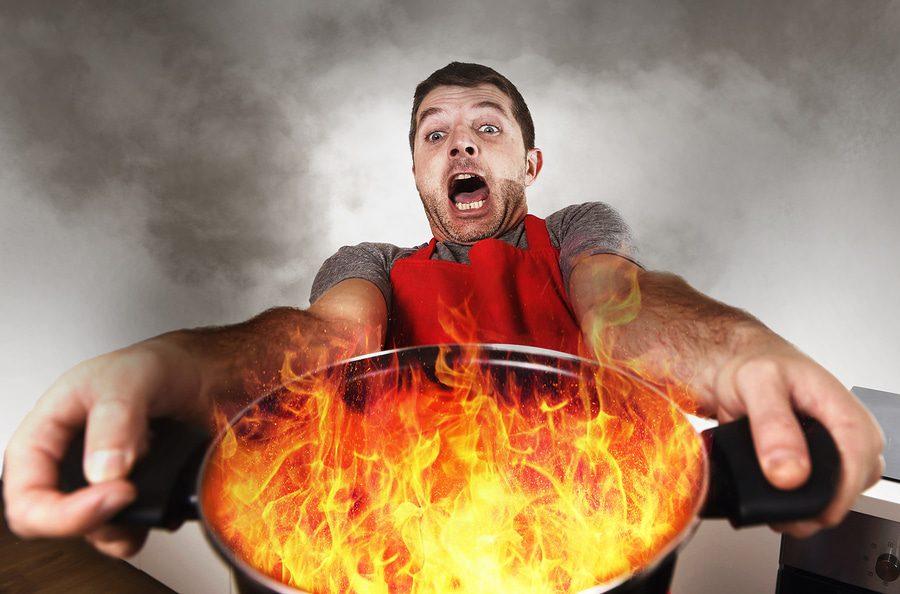Fahrlässig verursachter Wohnungsbrand.