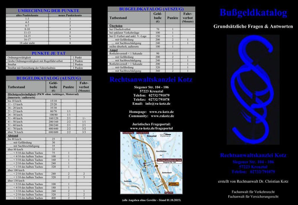 info broschüre bussgeldkatalog 2015