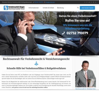 web-verkehrsunfallsiegen