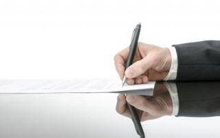 Unterzeichnung
