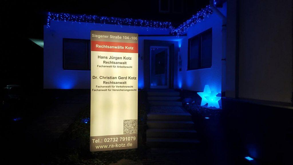 Kanzlei Kotz - Weihnachtsbeleuchtung