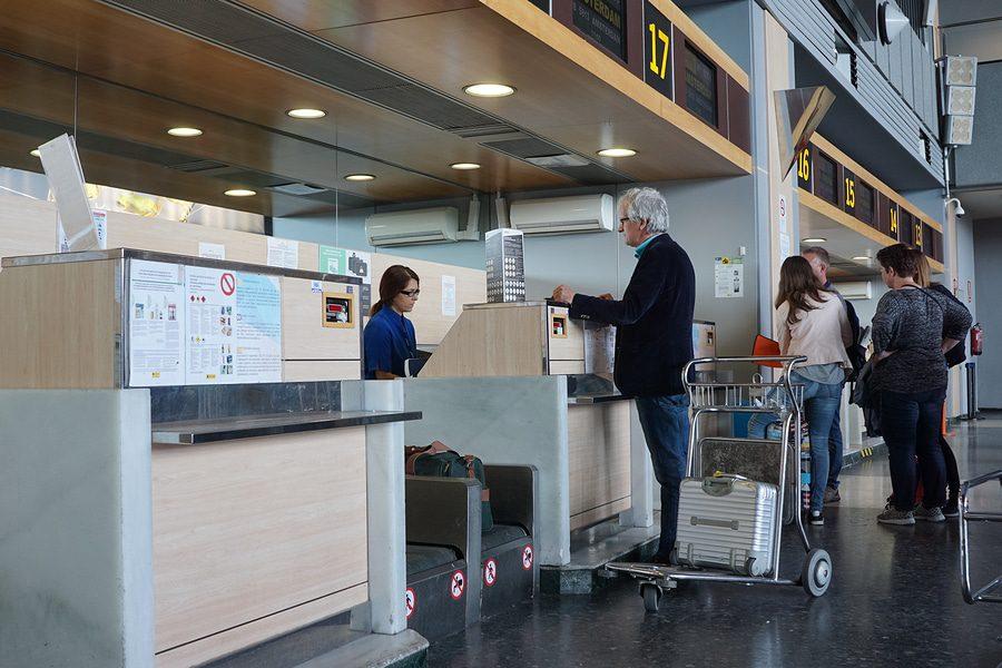Abfertigung verspäteter Fluggäste