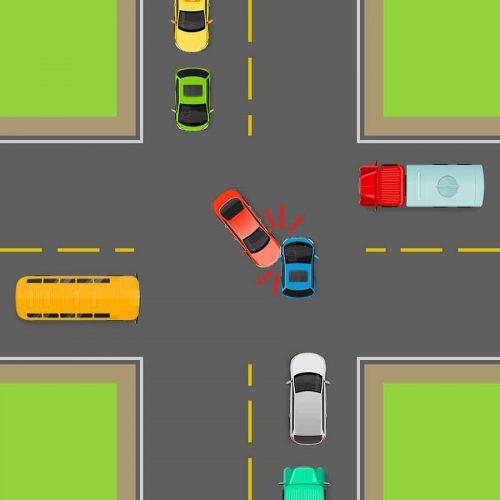 Verkehrsunfall - Haftungsverteilung bei Vorfahrtverletzung