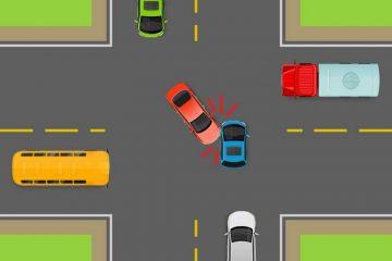 Verkehrsunfall – Haftungsverteilung bei Vorfahrtverletzung