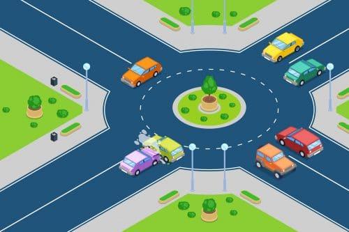 Verkehrsunfall im Einfahrtsbereich eines Kreisverkehrs - Anscheinsbeweis