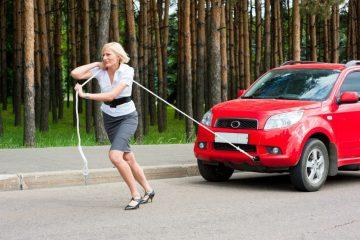 Falschparker – Wegschieben des Fahrzeugs und Beschädigung