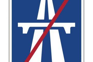 """Geschwindigkeitsüberschreitung – Verkehrszeichen """"Ende der Autobahn"""" – Bedeutung"""