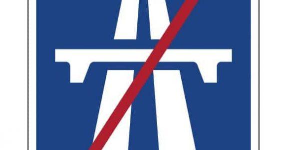 """Geschwindigkeitsüberschreitung - Verkehrszeichen """"Ende der Autobahn"""" - Bedeutung"""
