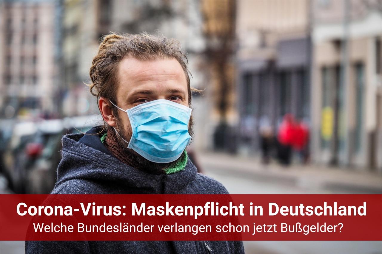 MAskenpflicht Coronavirus - Bußgeld
