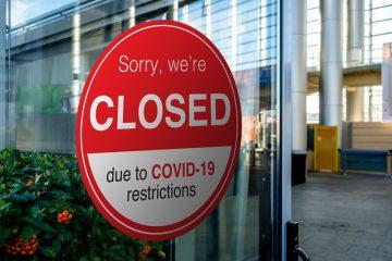 Schließung von Ladengeschäften des Einzelhandels aufgrund von Coronavirus SARS-CoV-2