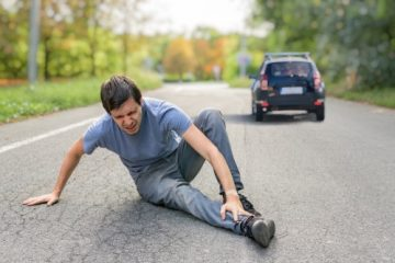 Verkehrsunfall – Kollision eines eine Bundesstraße überquerenden Radfahrers mit Kraftfahrzeug