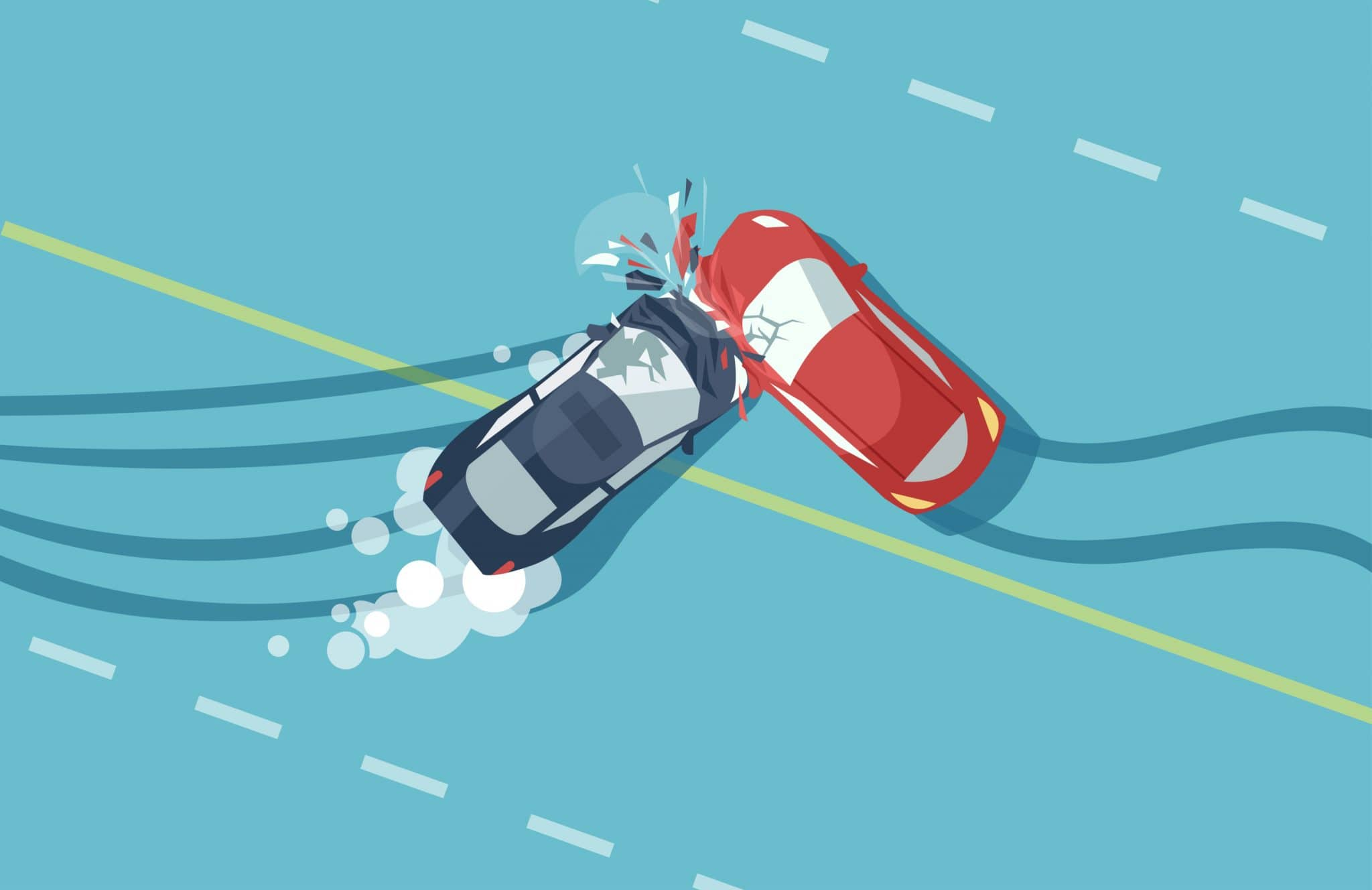 Verkehrsunfall zwischen Linksabbieger mit einem verbotswidrig überholenden Kraftfahrzeug