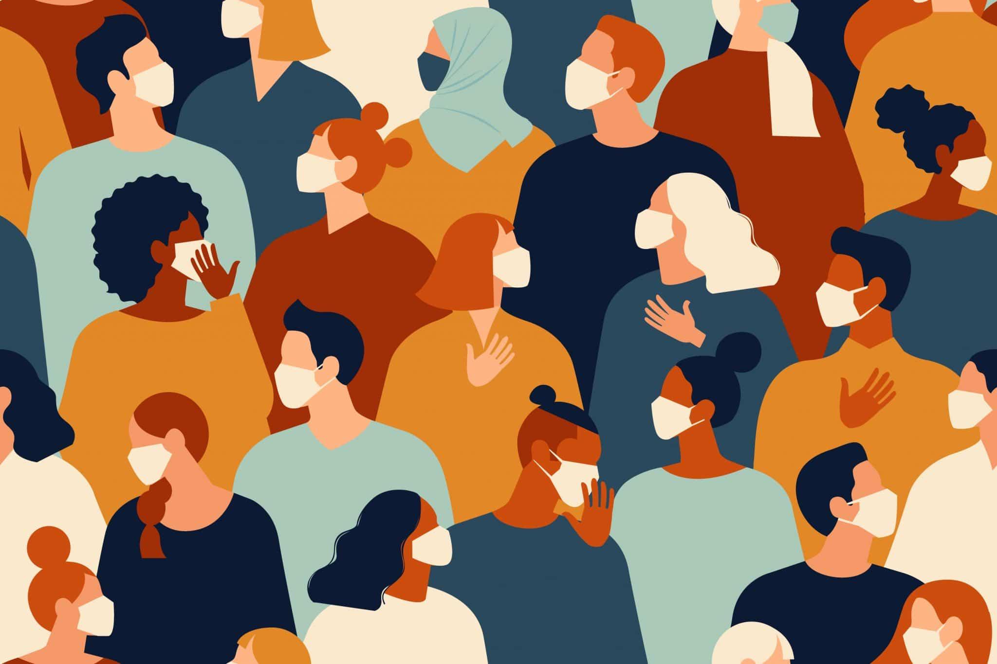 Zusammensein von mehreren Personen - Unterschreitung des Mindestabstandes von 1,5 Metern