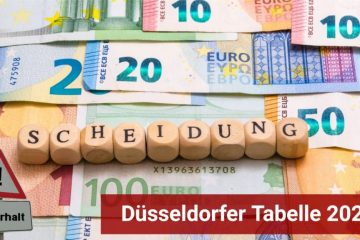 Familienrecht: Düsseldorfer Tabelle 2020