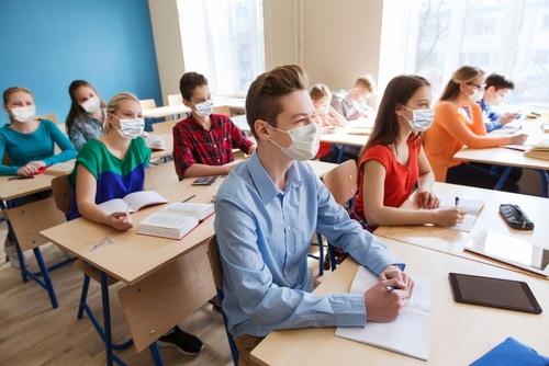 Corona-Pandemie - Pflicht zum Tragen einer Mund-Nasen-Bedeckung im Schulunterricht