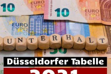 Düsseldorfer Tabelle und Unterhaltsleitlinien Hamm 2021