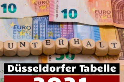Düsseldorfer Tabelle 2021 und Unterhaltsleitlinien Hamm