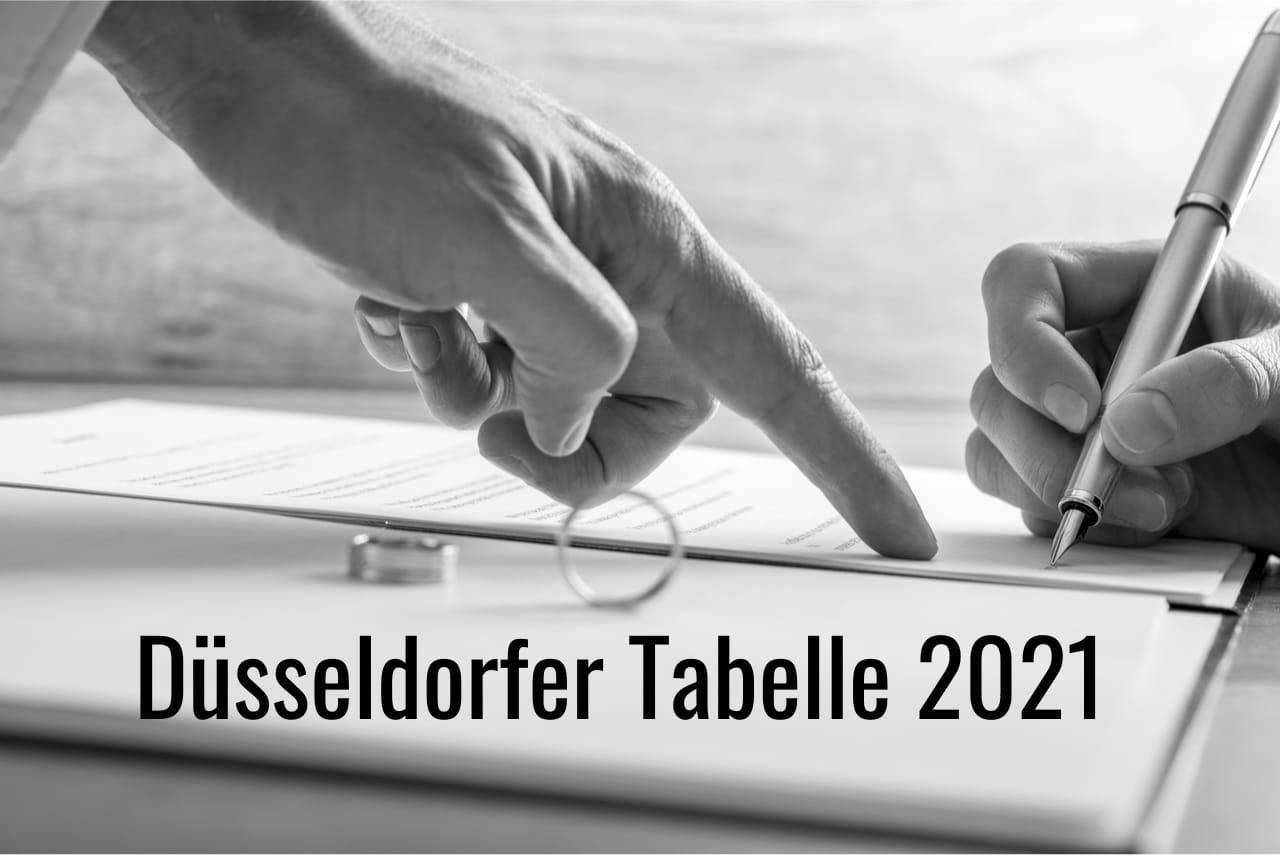 Unterhalt 2021 - Düsseldorfer Tabelle