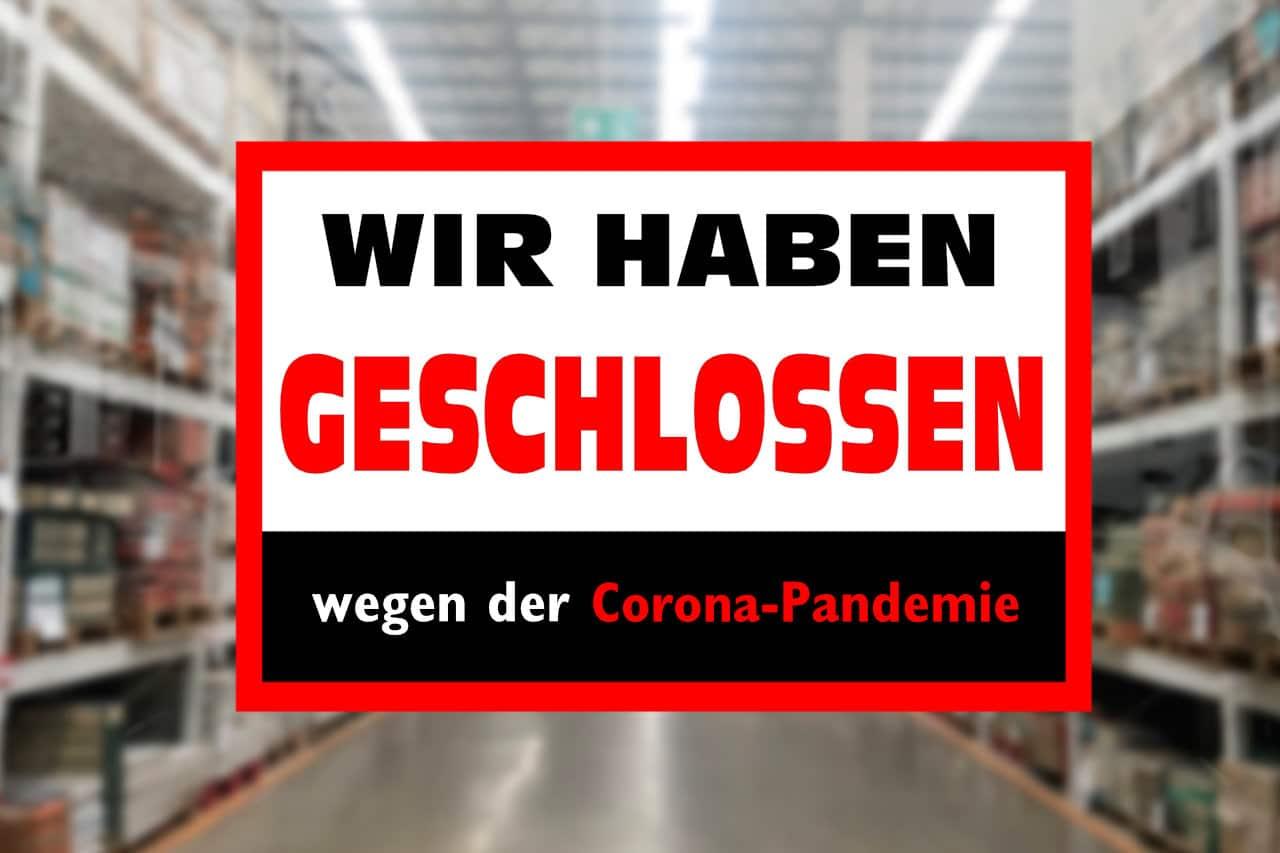 Geschlossenes Geschäft wegen Corona