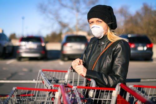 Corona-Pandemie - Maskenpflicht im Umfeld von Geschäften außer Vollzug gesetzt