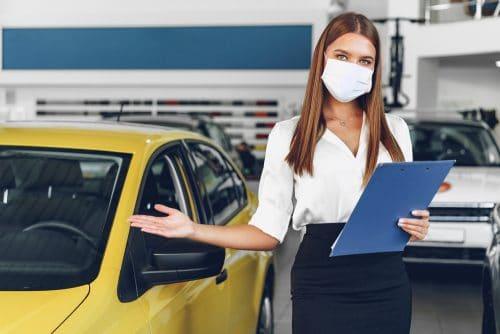 Corona-Pandemie - Betriebsverbot für Autohäuser