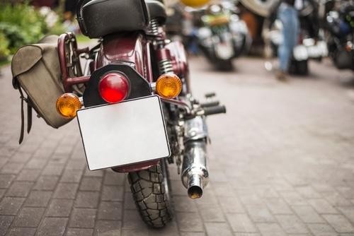 Änderung des Kennzeichens für ein Kraftrad