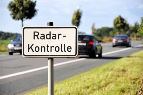 Radarkontrolle Polizei