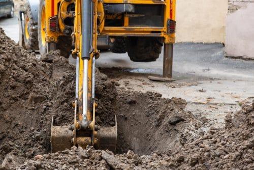 Grabungsarbeiten durch Wärmenetzbetreiber - fachgerechte Verdichtung Untergrund