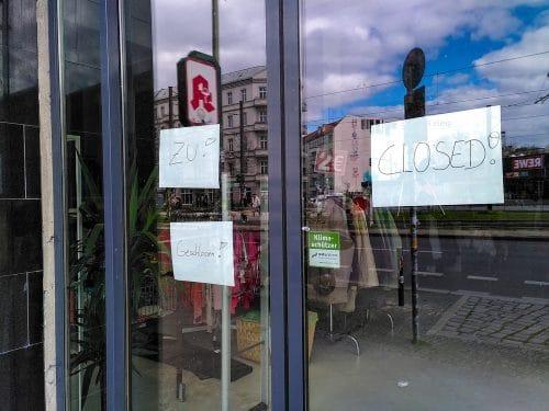 Schließung Einzelhandelsgeschäft während Lockdown im April 2020 Mietmangel?