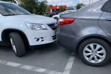 Verkehrsunfall auf öffentlichem Parkplatz