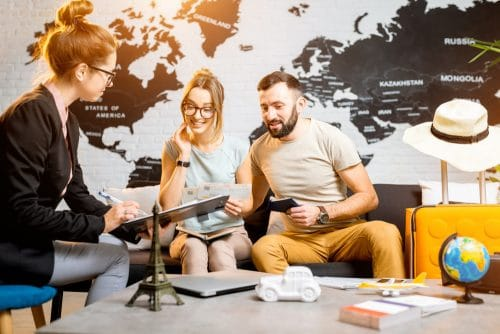 Vertragspartner bei Reisebuchung in einem Reisebüro