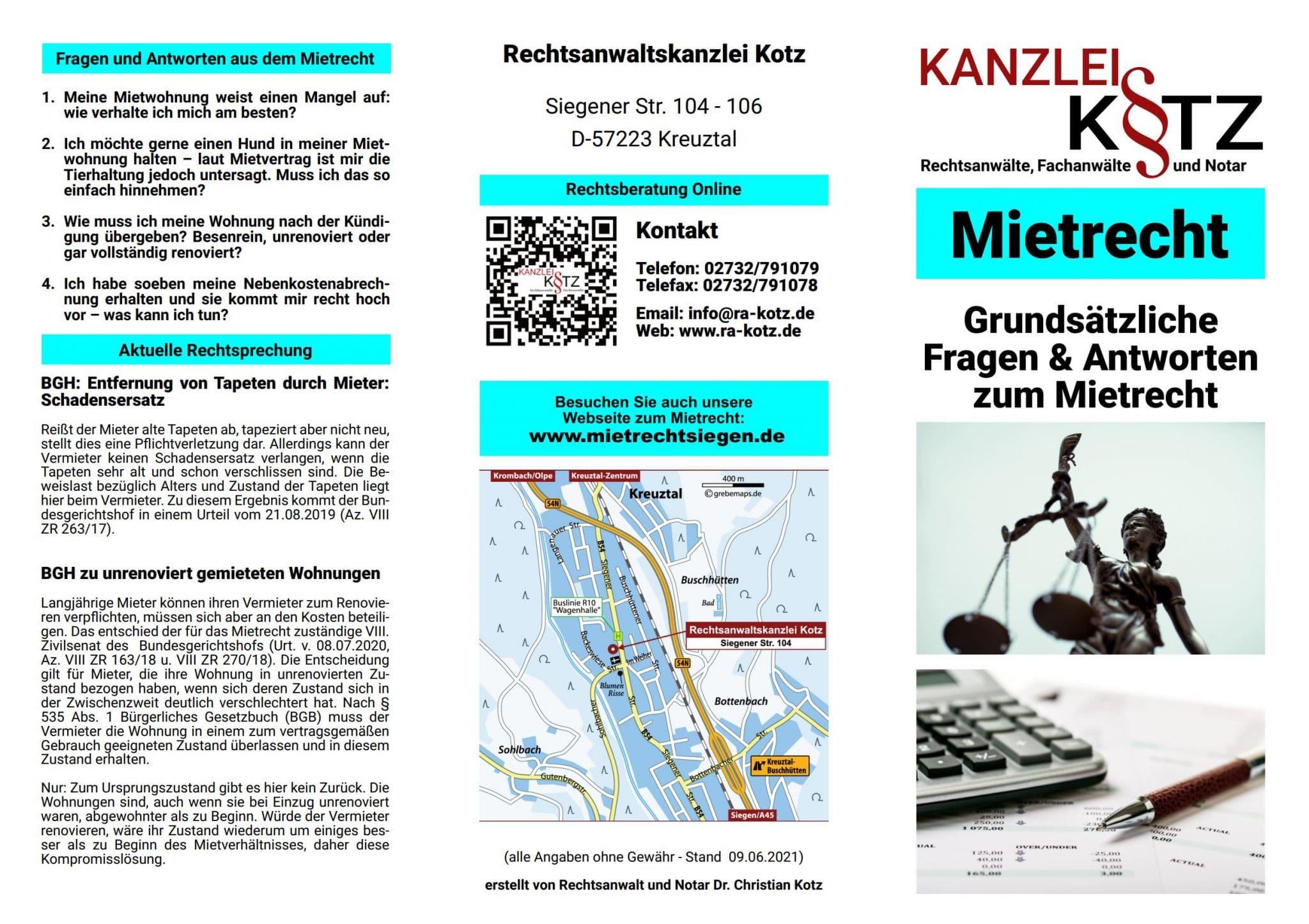 Mietrechr Broschüre 2021