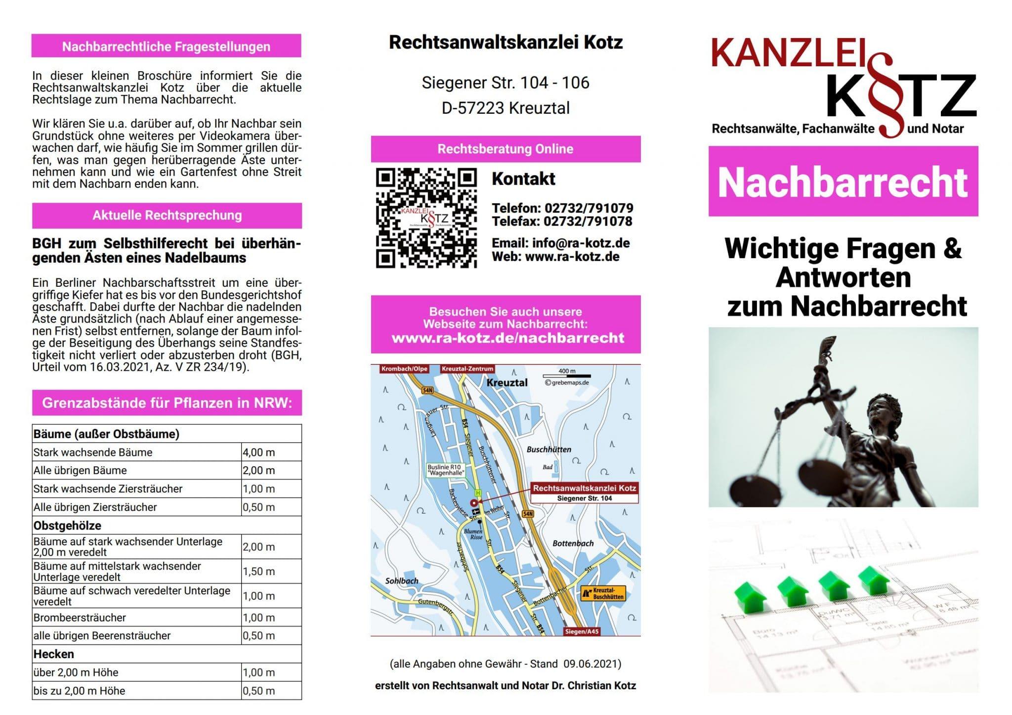 Nachbarrecht Broschüre 2021