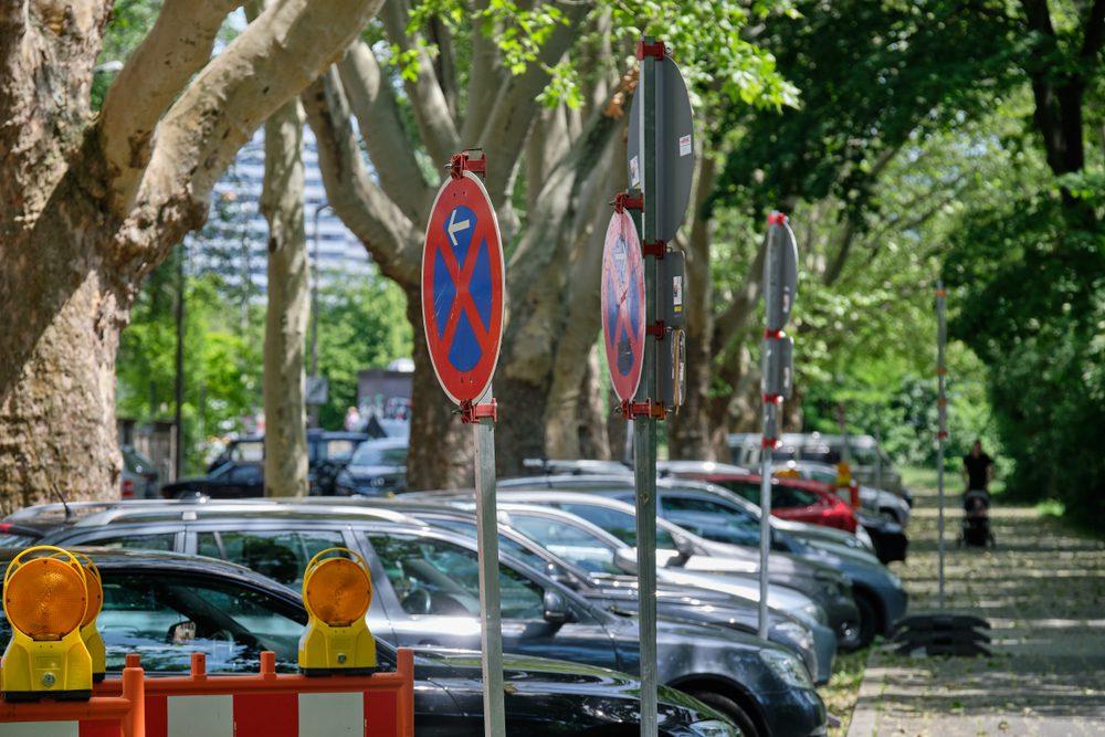 Verkehrsunfall mit Fahrzeug im absoluten Halteverbot